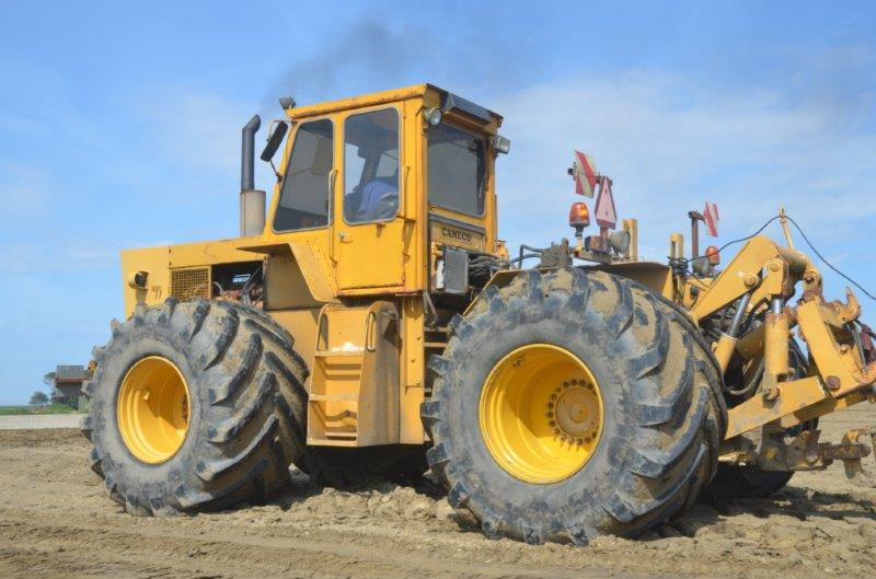 Originally built for sugar cane work, two of these 1980s 250hp Cat-powered tractors are in the fleet.